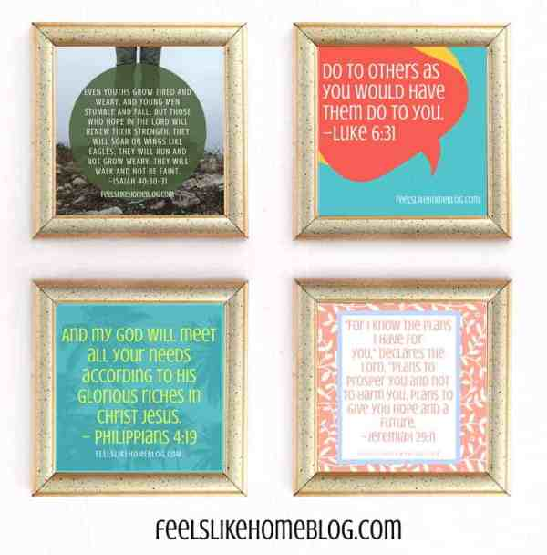 collage of Bible verse graphics