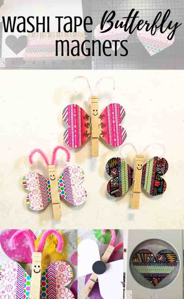 A close up of washi tape butterflies