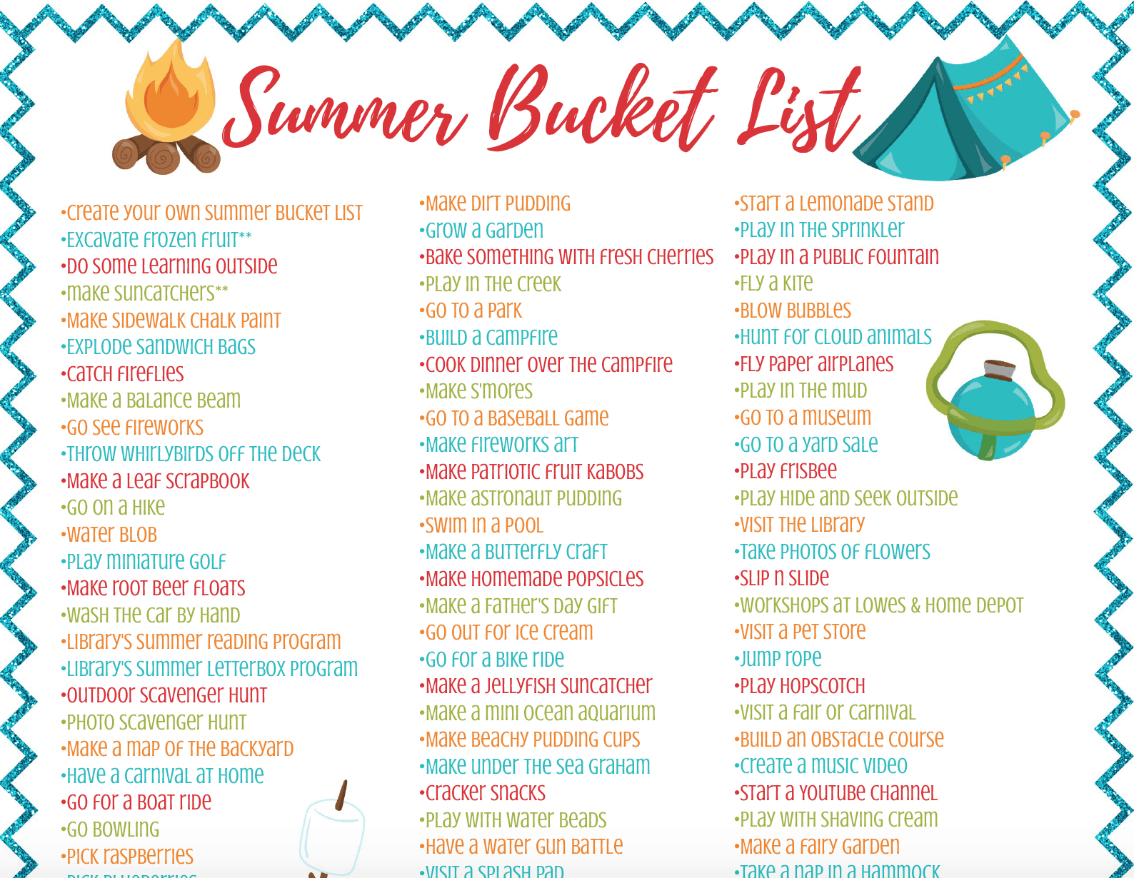 Summer Bucket List for Kids & Families - Feels Like Home™