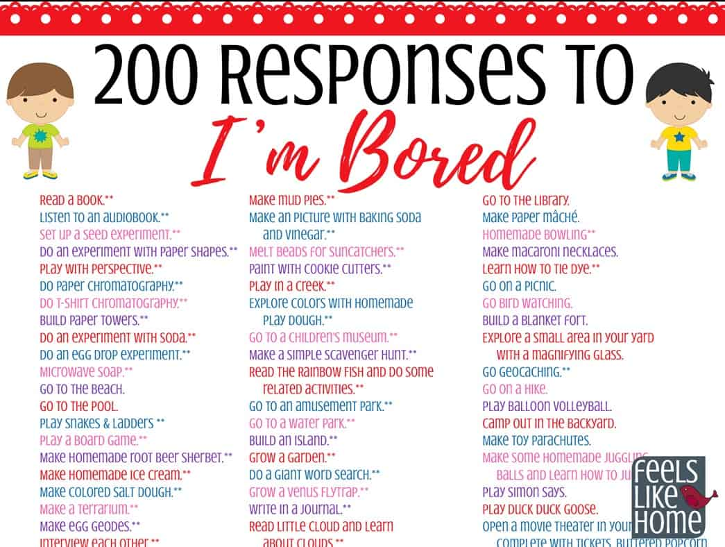 The Ultimate List Of Things For Kids To Do When They Re Bored 200