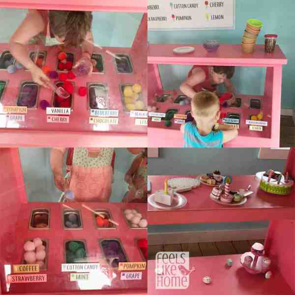 An ice cream stand for pretend play