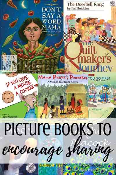A collage of the best books about sharing