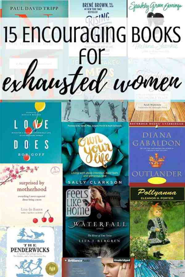 Encouraging books for exhausted women, especially moms - These reading lists for fiction and non-fiction are full of encouragement, strength, and hope. Some include the words and truth of God and some are purely for fun and escape. Written by teachers of faith and full of truths from the heart. Lots of great book ideas here, perfect for summer reading or anytime.