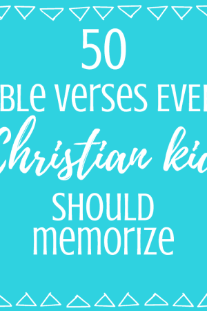 The best 50 Bible verses every Christian kid should memorize - These simple and easy verses for kids are encouraging and easy to memorize. The inspirational truths can help behavior and assist in parenting. They are short and easy for children to learn. Great for daily, weekly, or monthly scriptures, this list of verses is perfect for school or home.