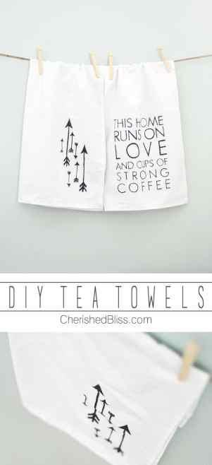 homemade tea towels