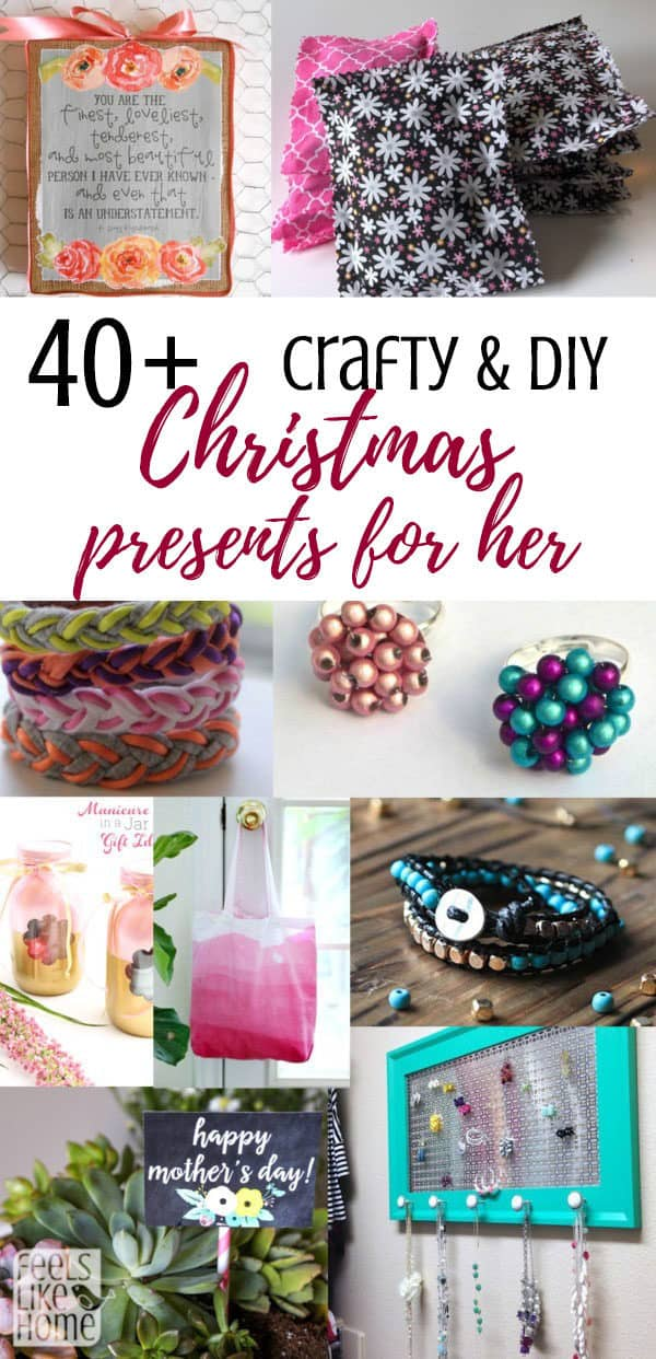 A collage of the best DIY Christmas gifts for women