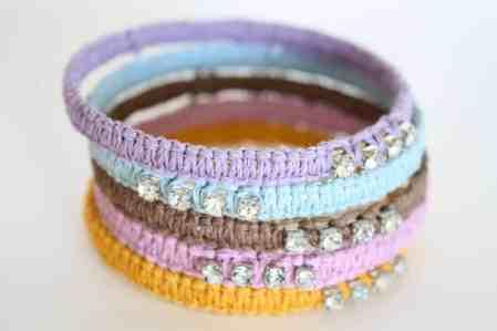 DIY knot bracelets