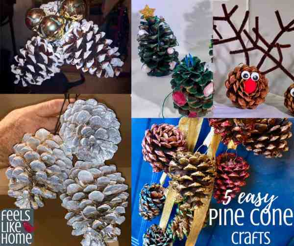 5 Simple Easy Diy Christmas Ornament Crafts Using Pine Cones