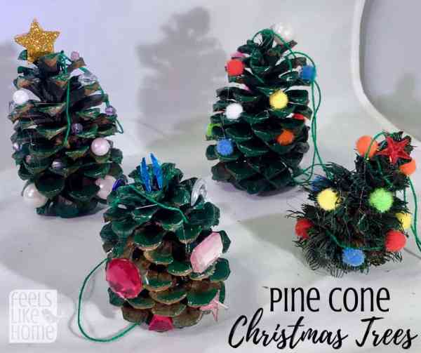easy cute diy pine cone tree crafts for kids this christmas tree craft is
