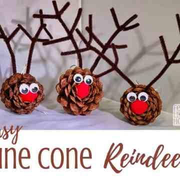 pine cone reindeer