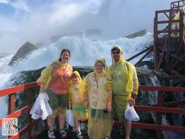 The Ziegmont family posing for the camera at Niagara Falls