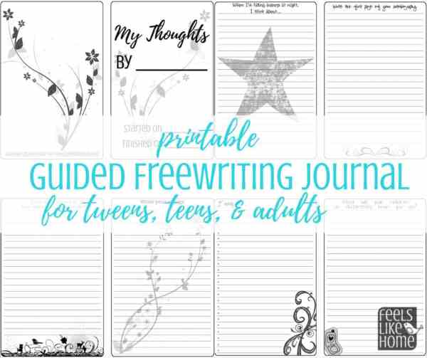 A close up of a printable journal