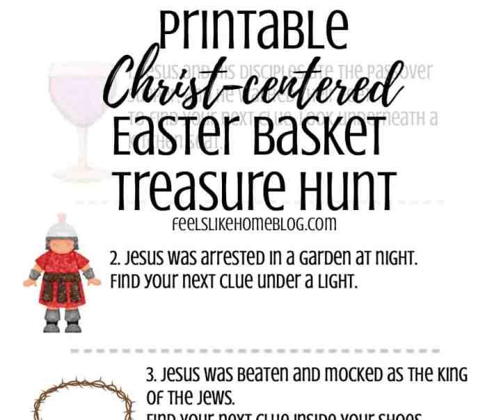 religious Easter basket scavenger hunt sample