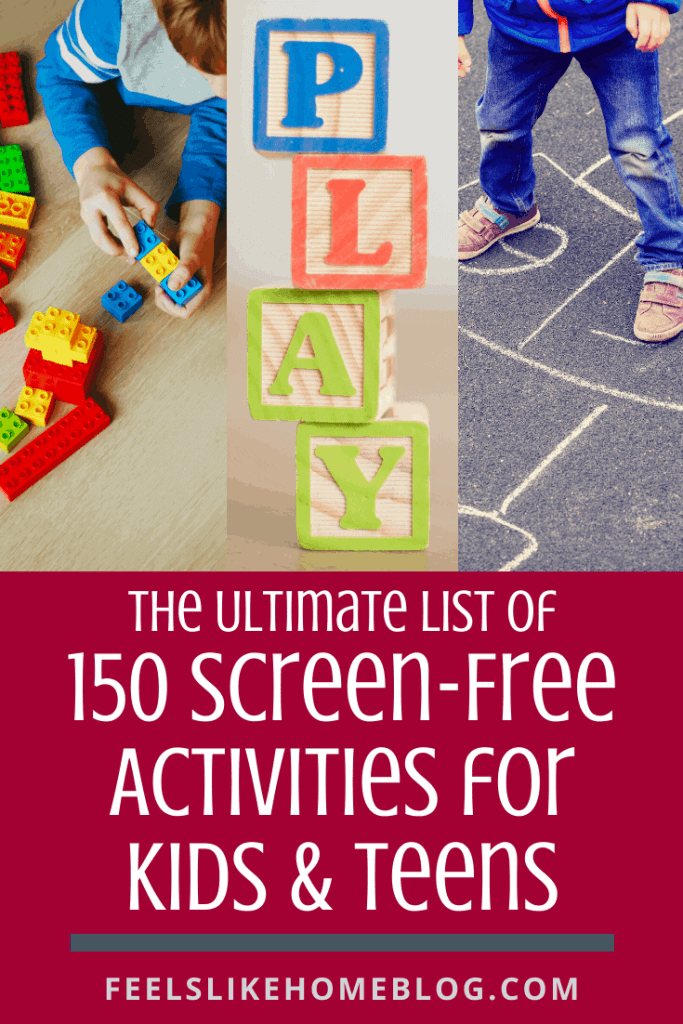 The ultimate list of screen-free activities for kids and teens - These are the best things to do when you're bored during the summer, on weekends, or anytime. Fun, simple, and easy play ideas for parents, children, and students. Great for rainy days, outside days, learning, eating, getting active, and more. Perfect for at home but could be adapted for school.