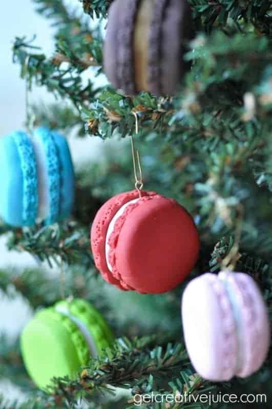 Macaron Christmas ornaments