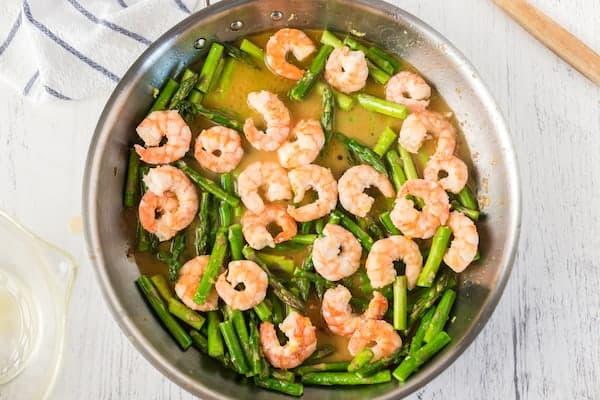 shrimp and asparagus with lemon sauce