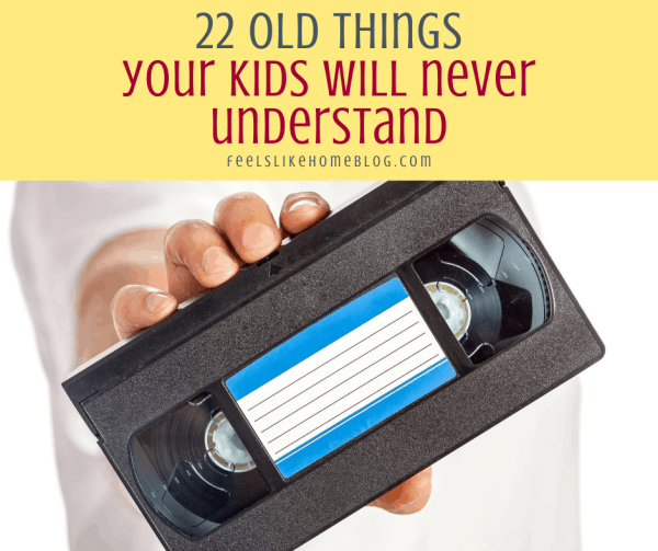 an old VCR tape