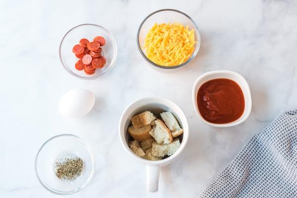 mug pizza ingredients
