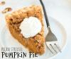 pumpkin pie with pecan streusel topping