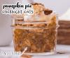 pumpkin pie overnight oats in a mason jar