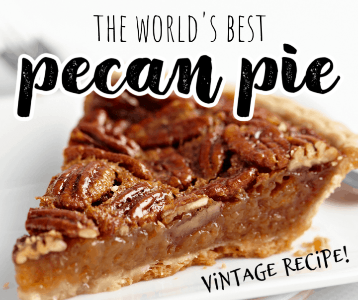a slice of pecan pie on a white plate