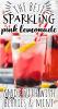 a close up of a glass of sparkling lemonade