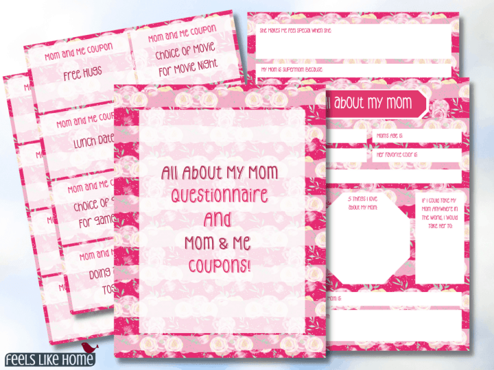 Mother's Day printable interview questions for kids