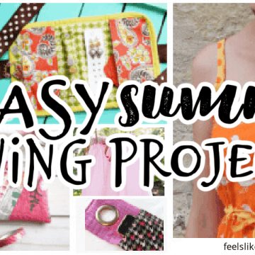 collage of easy summer sewing projects