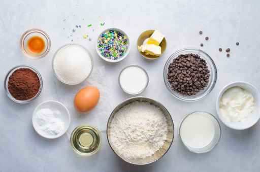 baked chocolate donut ingredients