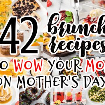 collage of brunch recipe photos