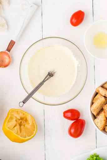 homemade lemon mayo salad dressing