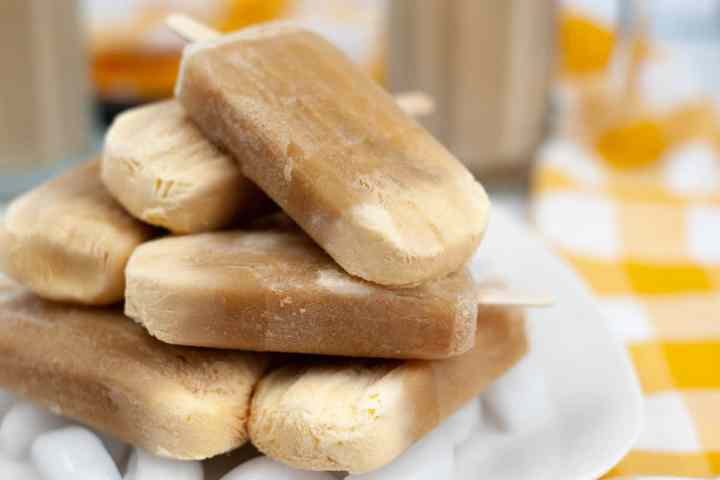 a pile of root beer float popsicles