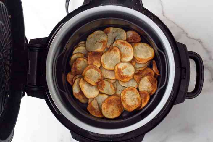 potato chips in the air fryer