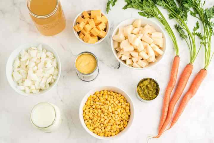 crockpot corn chowder ingredients