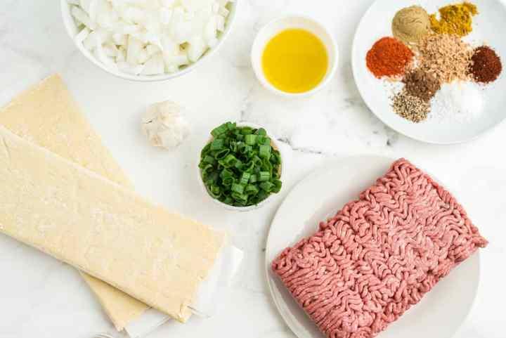Jamaican meat pie ingredients