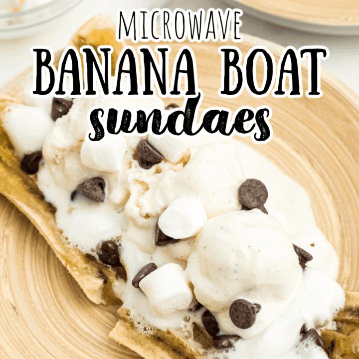banana boat with ice cream