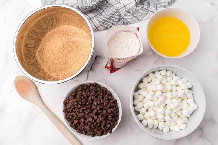s'mores bars ingredients