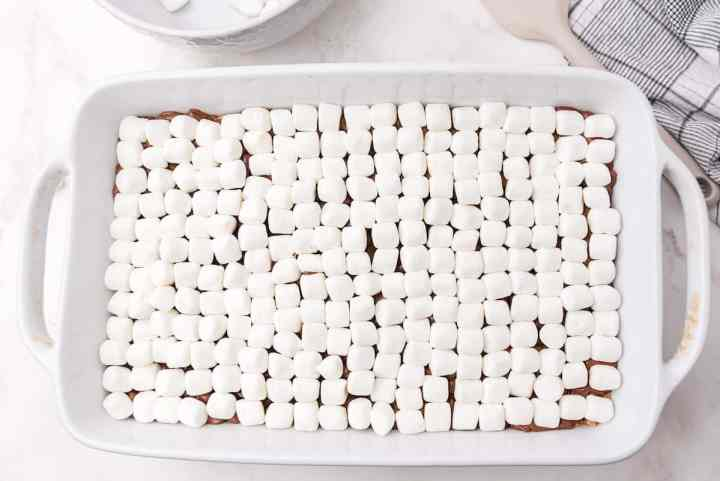 top the chocolate with the marshmallows