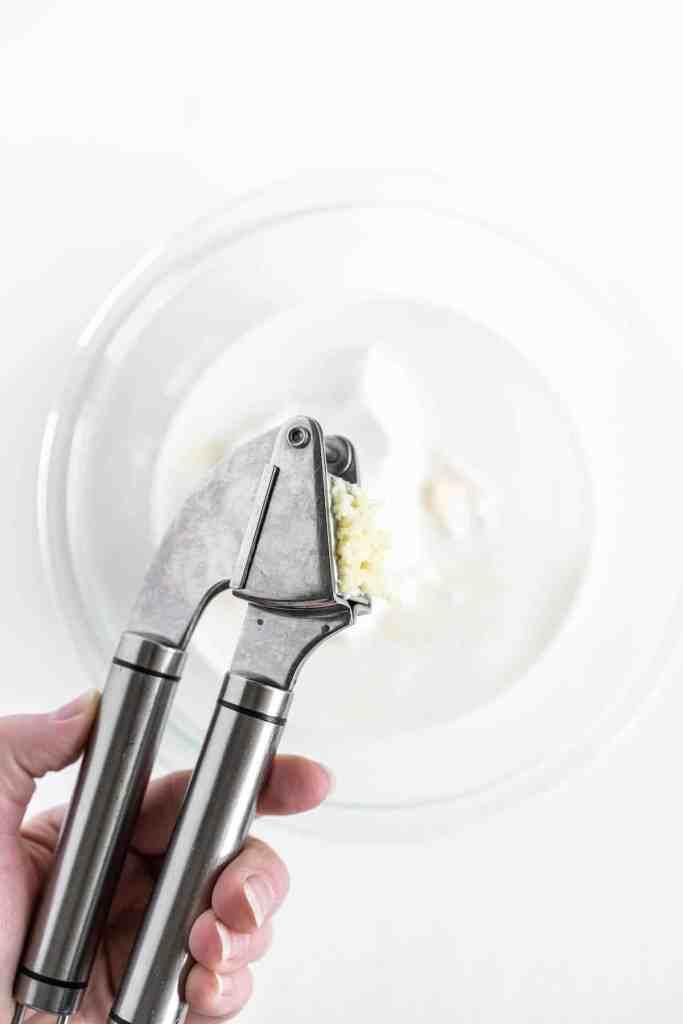 press the garlic