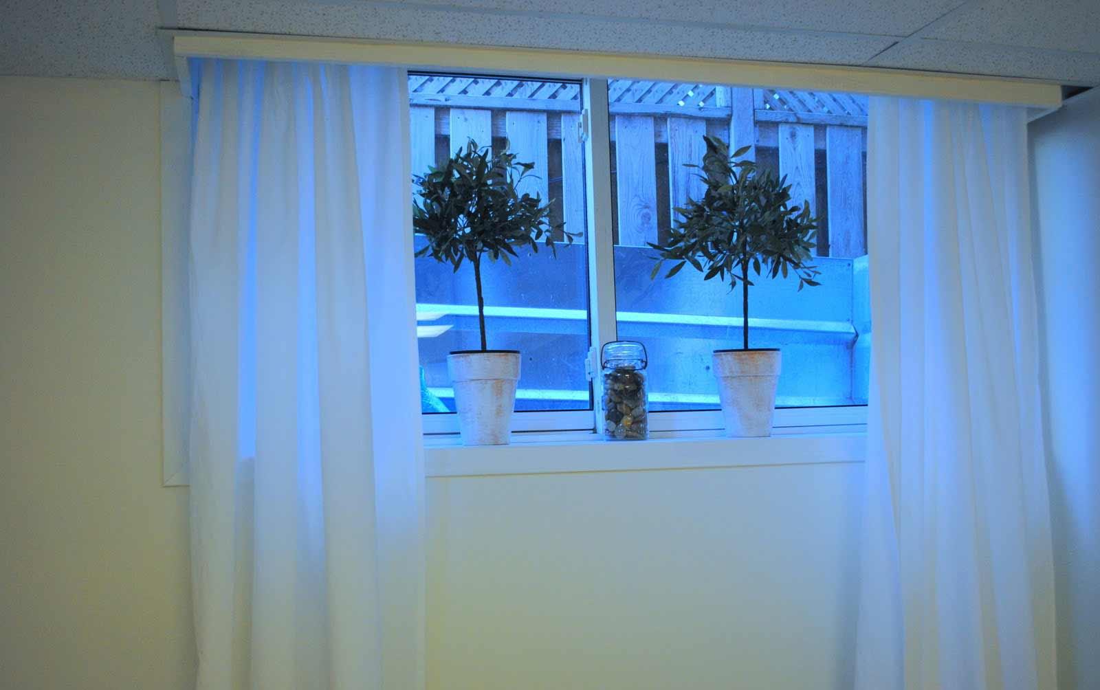 Basement Window Curtains Ideas