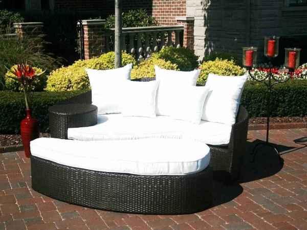 black wicker garden furniture Black Wicker Patio Furniture Sets