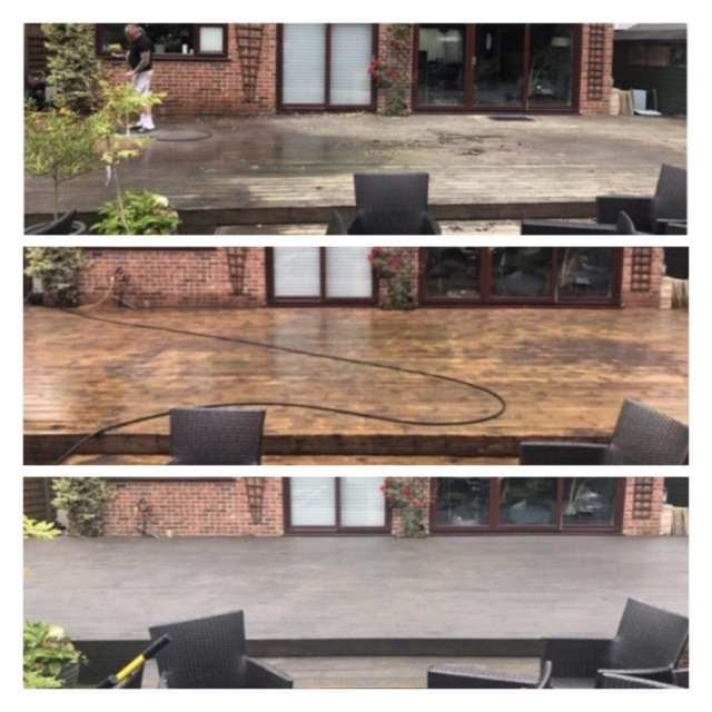 Pressure Washing Decking and Woodwork in Virgina Water