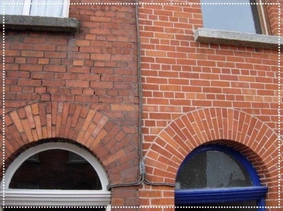 Residential brick cleaning - Before and After