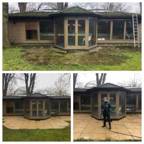 Pressure Cleaning Patio and Summer House
