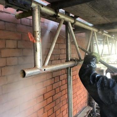 super heated brick cleaning