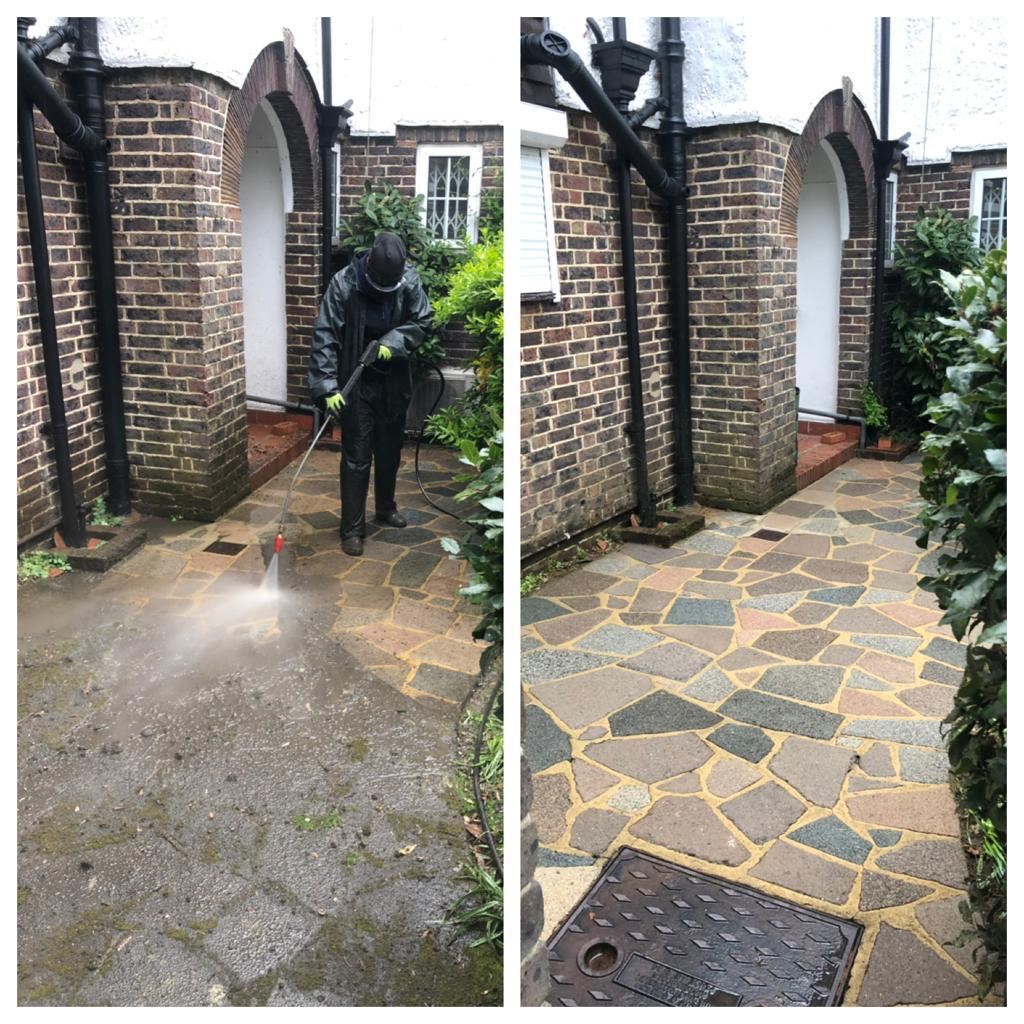 CRAZY PAVING PATIO CLEANING REIGATE, SURREY