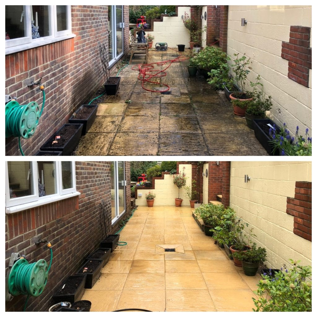professional jet washing in leatherhead, surrey