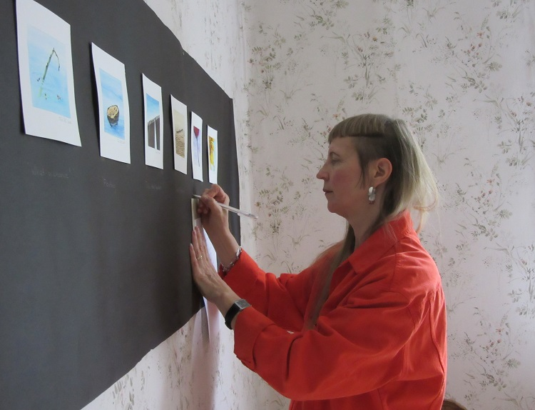 Tiina Salo-Devries at a Building exhibition in Rauma Finland 2015