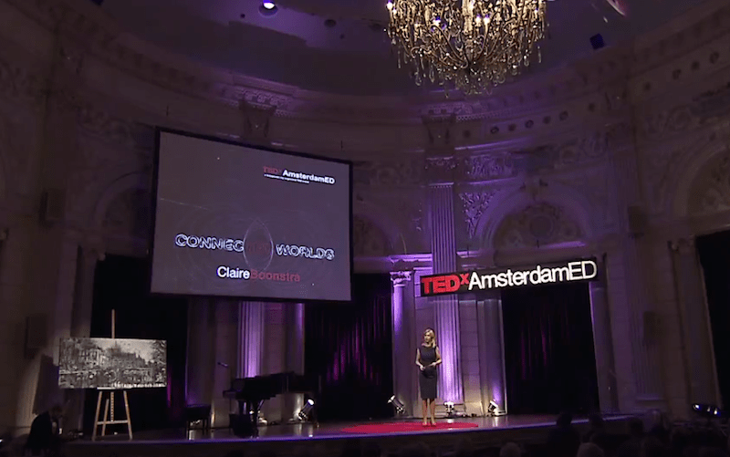 Claire Boonstra tijdens TEDxAmsterdamED