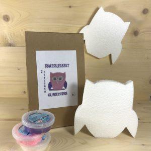 knutselpakket uil foam clay